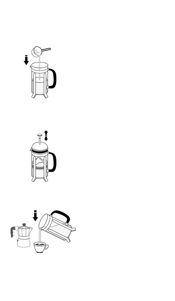 milk frothing with french press A