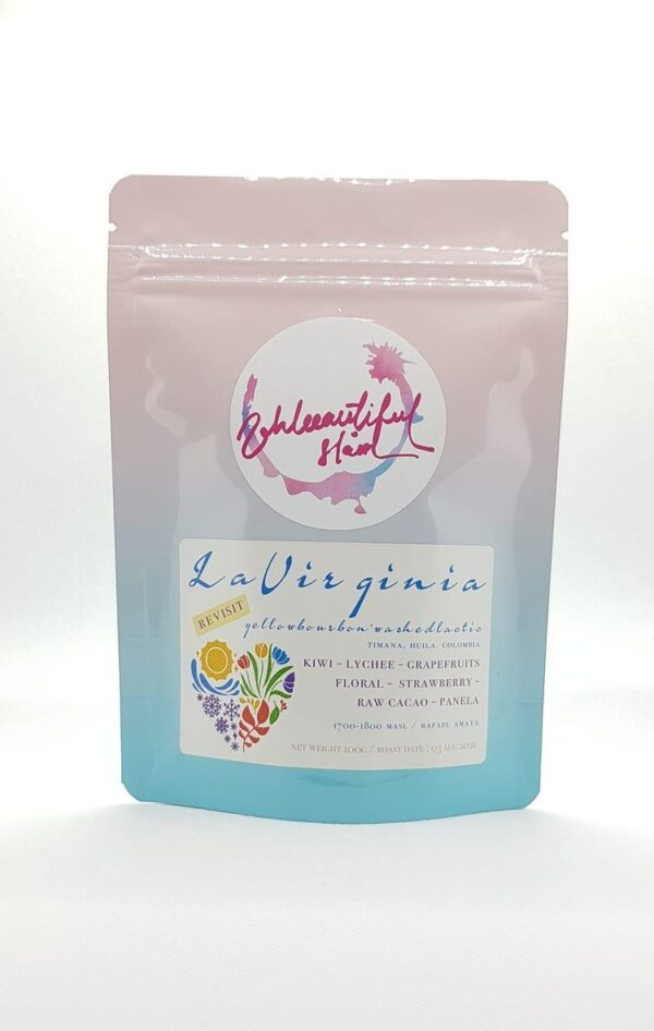 La Virginia Colombia Yellow Bourbon Lactic Washed chairty coffee